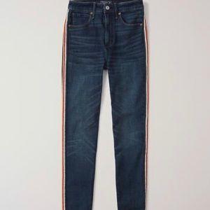 Abercrombie & Fitch side stripe jeans